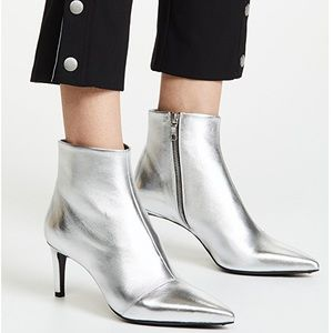 NWOB Rag and Bone Silver Toned Ankle Booties 🔥😱